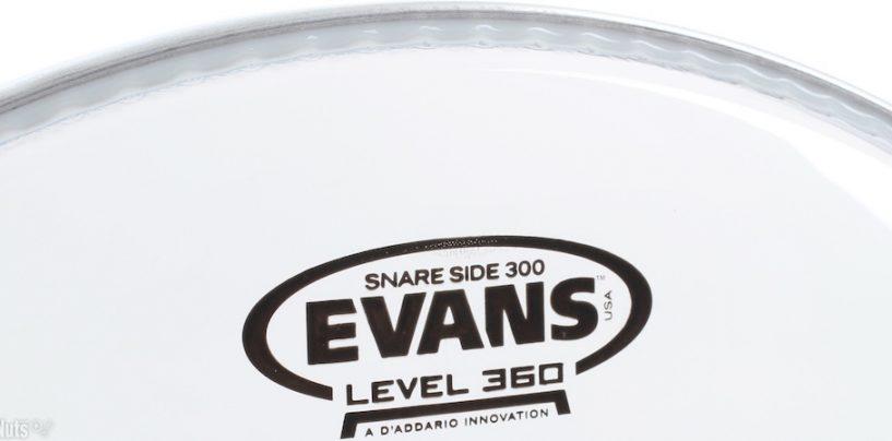 Evans lança modelo 360 de pele para bateria