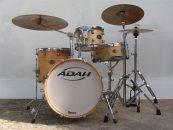 Bateria Classic Wood Jazz, da Adah Drums