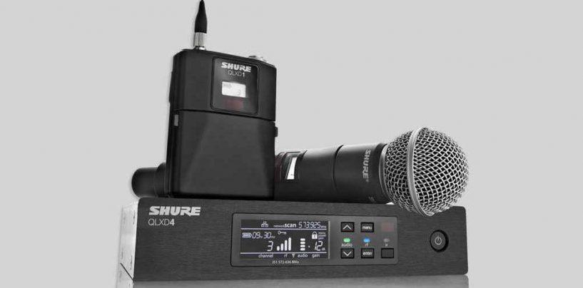 Shure faz webiniário para o QLX-D: seu novo sistema sem fio