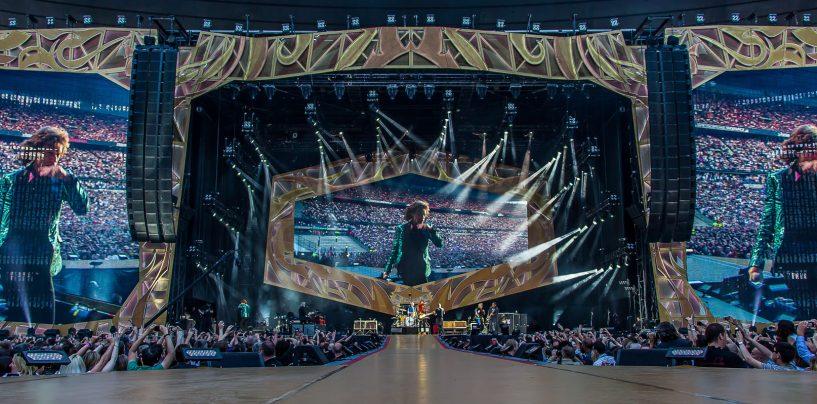 Robe na turnê dos Rolling Stones