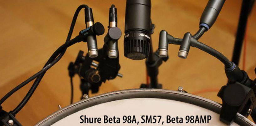 Shure: Microfones para bateristas e percussionistas