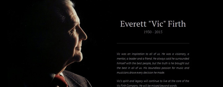 Vic Firth: Falece seu fundador