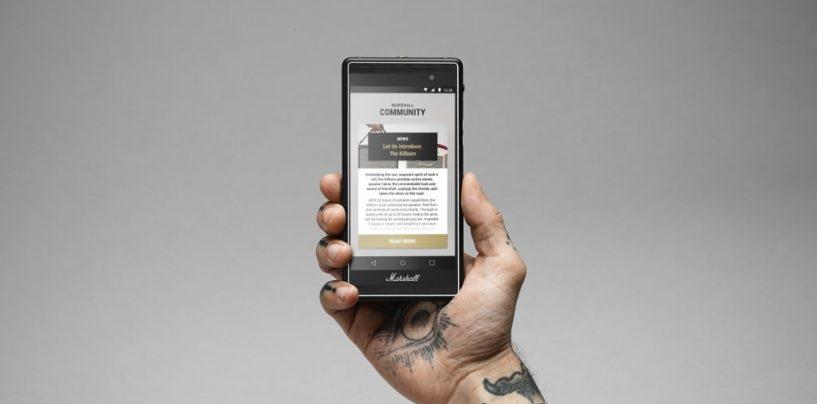 Marca de amplificadores Marshall lança smartphone