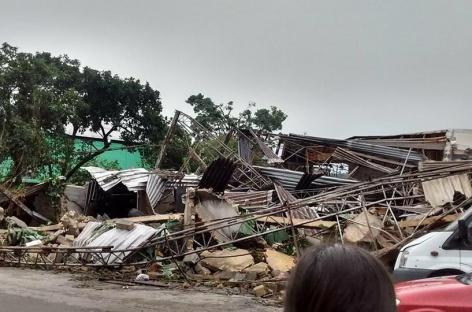 Gope tem fábrica danificada por tempestade em Embu-Guaçu, São Paulo