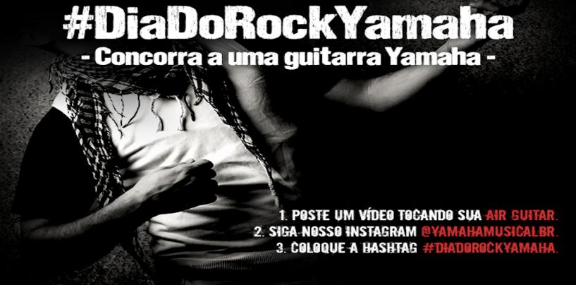 Promoção da Yamaha Musical para o Dia do Rock