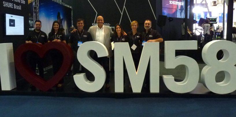 Expomusic: O SM58 está fazendo 50 anos e tem edição especial