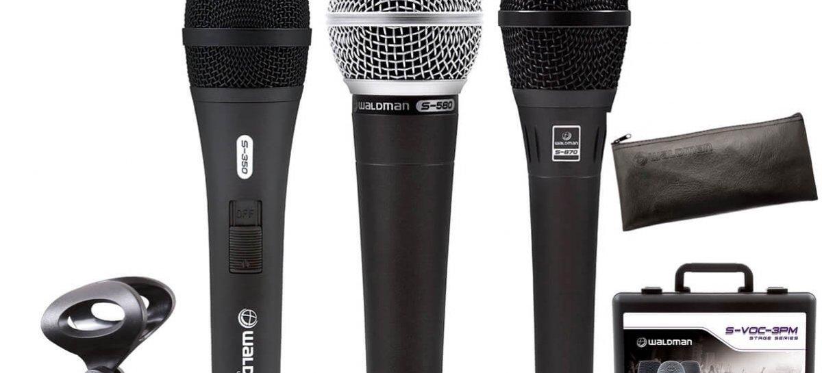Review Microfones Waldman S-870, S-580 e S-350
