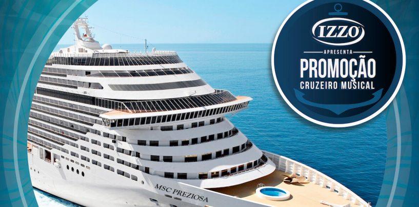 Ação da Izzo Musical leva mais de 40 passageiros para cruzeiro paradisíaco