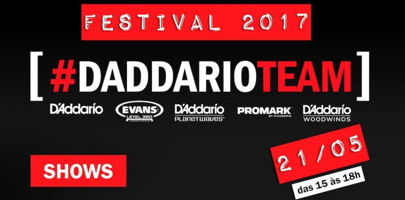 D'Addario Team Festival será no dia 21 de maio