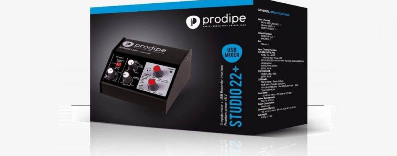 Nova interface de áudio Studio22+ da Prodipe