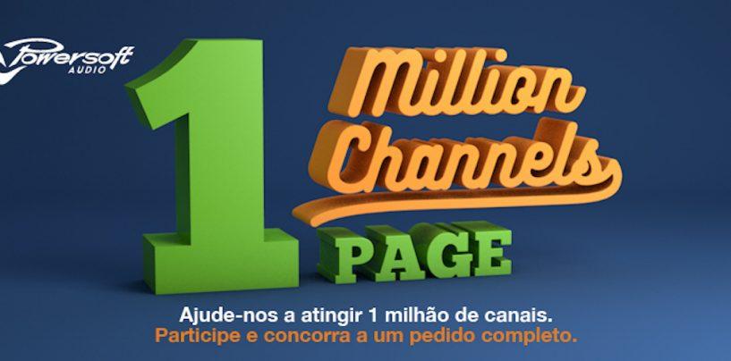 Powersoft anuncioua campanha One Million Channels