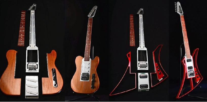A guitarra para armar da Somnium Guitars