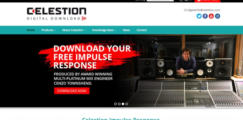 Celestion introduz novo site e sons digitais