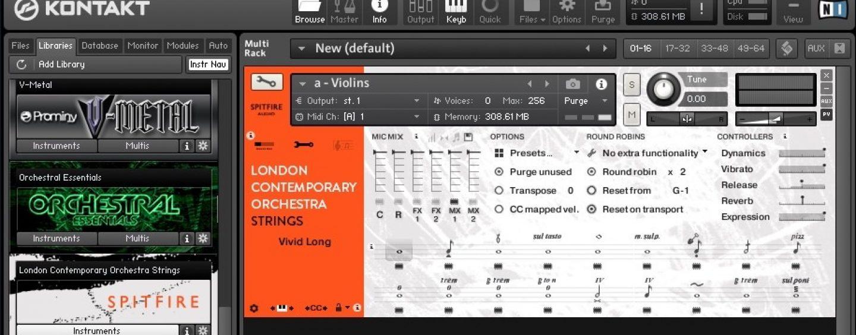 Spitfire LCO – uma biblioteca acessível para a criativa escrita de cordas orquestral