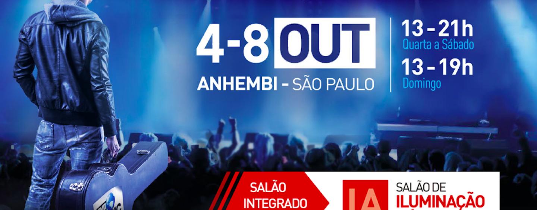 Expomusic 2017 terá Salão de Iluminação e Áudio Pro