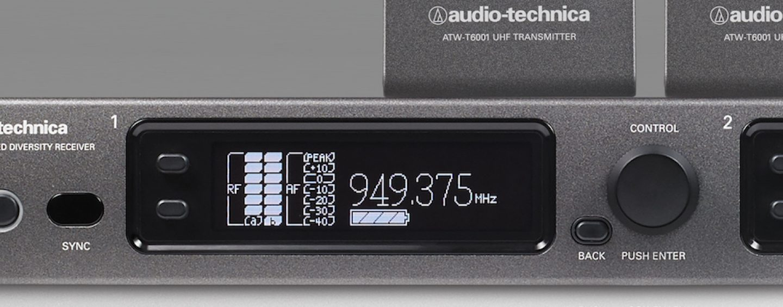 Sistema sem fio Série 6000 da Audio-Technica em distribuição