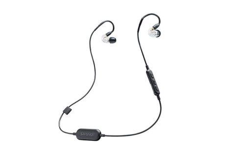 Fones Shure SE112 e SE215 com conexão e cabo Bluetooth