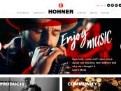 Hohner lança novo site