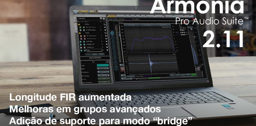 Powersoft lança nova versão 2.11 de software Armonía