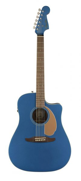 Fenders new California Series Redondo Player acoustic guitar in Belmont Blue