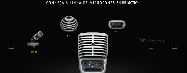 Shure lança lojas oficiais no Mercado Livre e Amazon Brasil