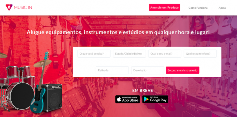 Marketplace para alugar instrumentos, Music In