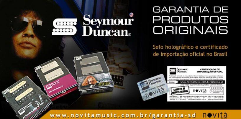 Novità anuncia selo de produto original para a Seymour Duncan