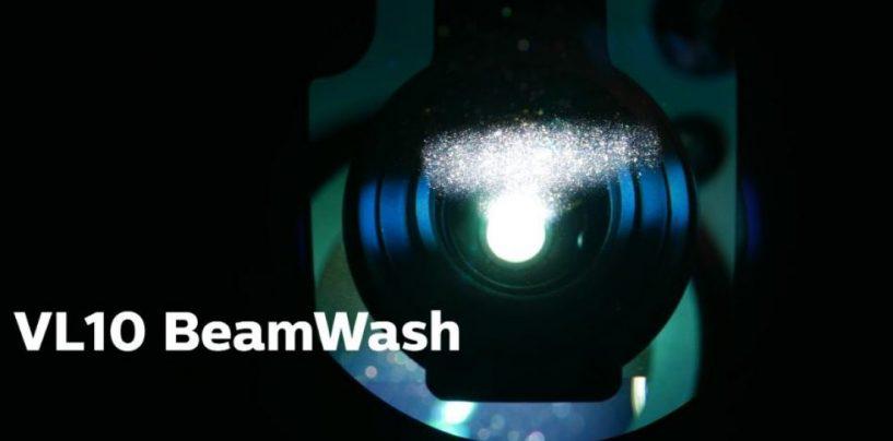 Nova luz VL10 BeamWash da Philips Vari-Lite