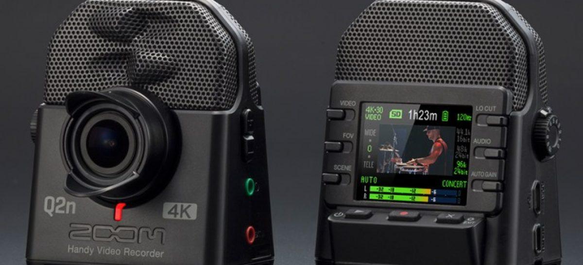 Zoom apresenta a Q2n-4K, uma câmera para músicos
