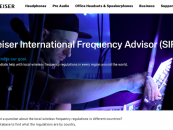 Site da Sennheiser inclui assessoria de frequência internacional