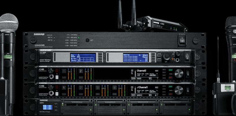 Shure disponibiliza transmissores ADX AxientDigital para compra