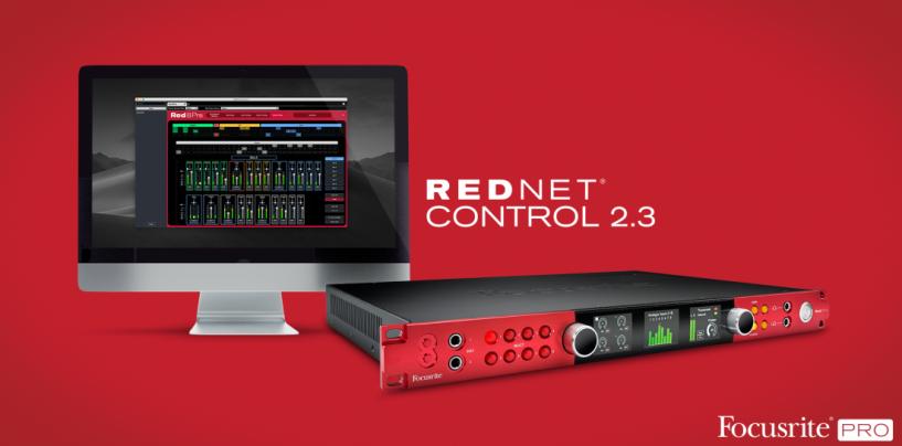 RedNet Control da Focusrite agora inclui suporte para interfaces Red Range