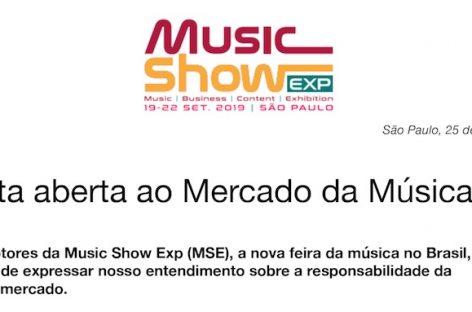 Music Show lança Carta Aberta ao Mercado da Música