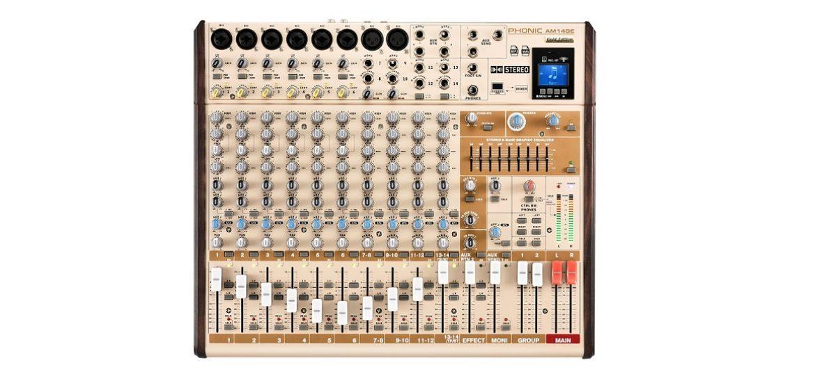Phonic apresenta o mixer AM14GE