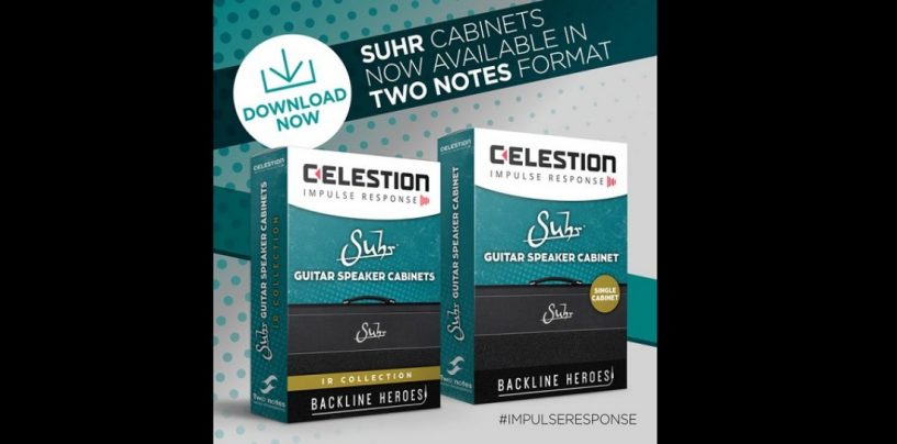 Celestion apresenta o novo Suhr Cabinet Impulse Responses