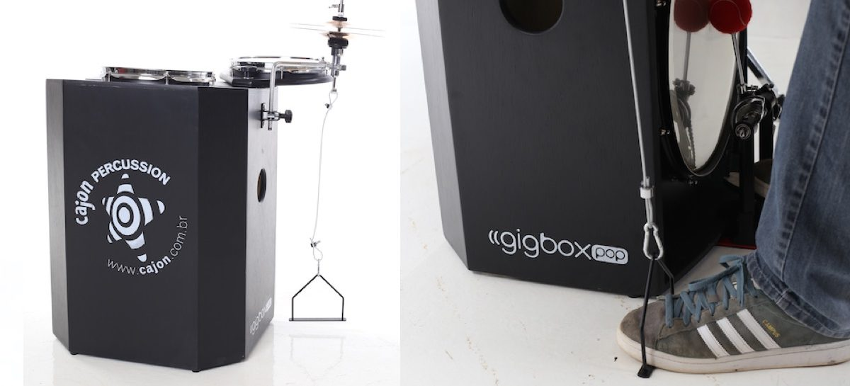 Music Show: GigboxPop e AeroHat são os novos produtos da Cajon Percussion