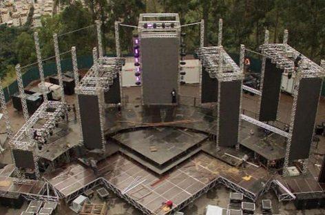 Estruturas da Auratec na gravação de DVD da Banda Eva