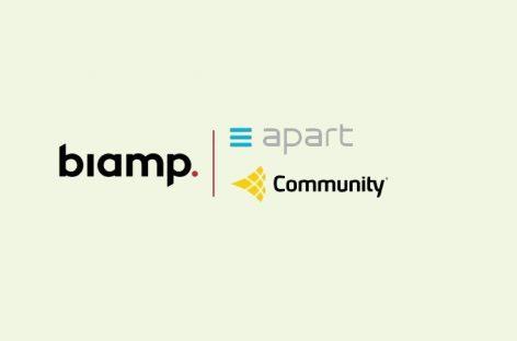 Biamp anuncia aquisição de Community Loudspeakers e Apart Audio