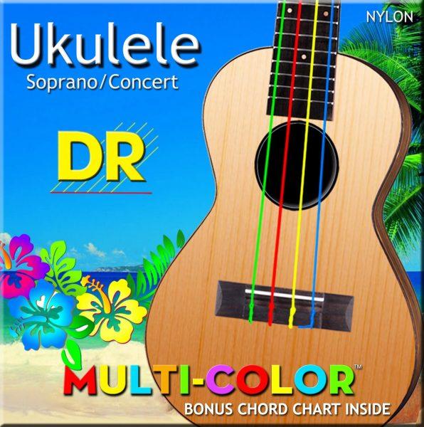 DR Strings Ukulele Multi Color