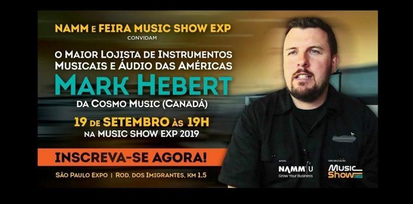 NAMM trará Mark Herbert para a feira Music Show 2019!