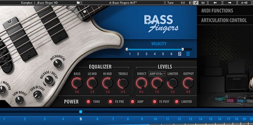 Bass Fingers é o novo plugin da Waves Audio
