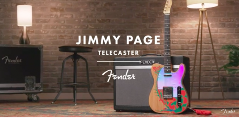 Jimmy Page Telecaster é a nova guitarra da Fender