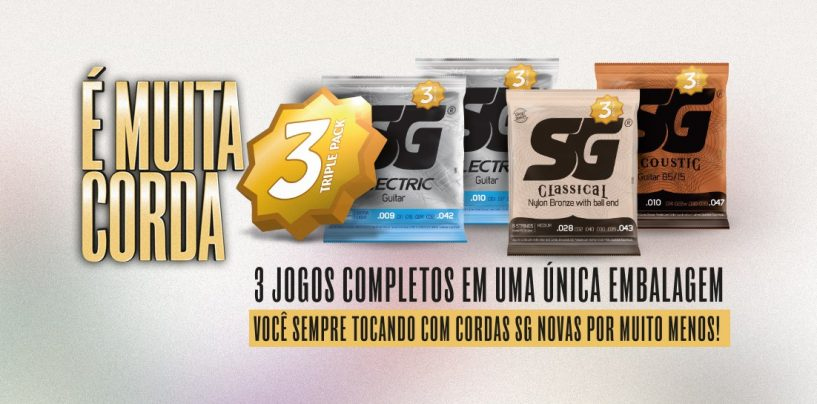 SG Strings apresenta novo Triple Pack SG