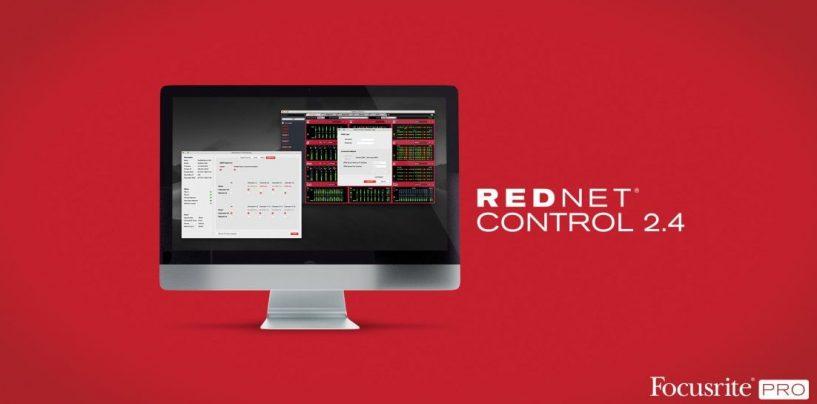RedNet Control 2.4 da Focusrite adiciona novas funcionalidades às interfaces Red e RedNet