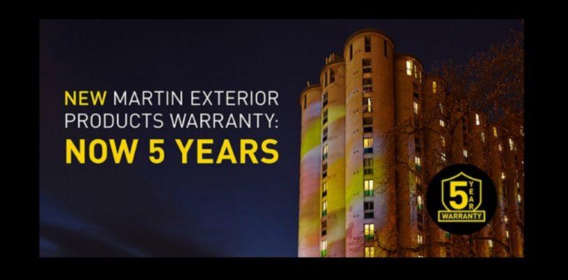 Martin Lighting oferece garantia de 5 anos