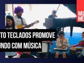 Loja: Alberto Teclados promove um mundo com música