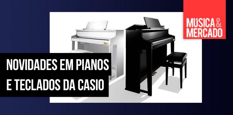 Novidades em pianos e teclados da Casio
