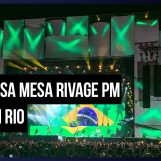 Gabisom usa mesa Rivage PM no Rock in Rio