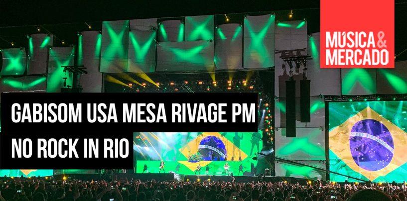 Gabisom usa mesa Rivage PM no Rock in Rio