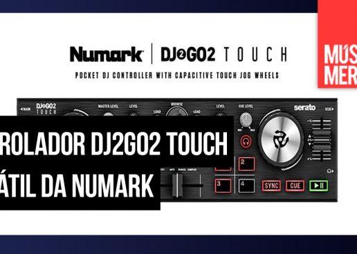 Controlador mini DJ2GO2 Touch da Numark